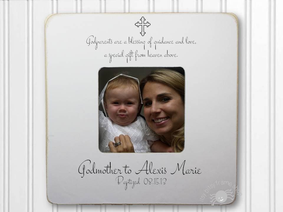 Personalized Frame Godchild Gift For Godmother Baptism Frame
