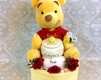 Baby Boy Diaper cake - One Tier Diaper Cake - made to order