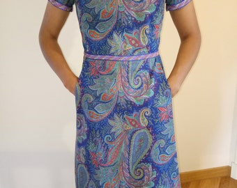 Blue print dress size 36
