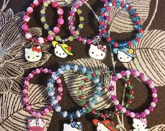 Hello Kitty Inspired Stretch Bracelet