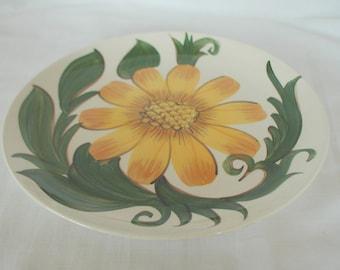 Vintage Wade Pottery Dinner Plates x 2 Sunflower Design