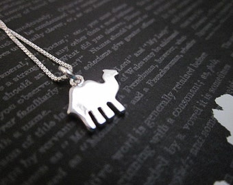 Desert Jewelry, Camel Jewelry, Tiny Animal Necklace, Camel Gift, Women's Animal Charm Jewelry, Tiny Silver Animal Necklace, Camel Necklace