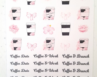 Floral Coffee stickers
