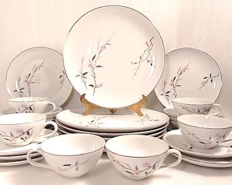 Vintage 31 Piece Fine China Cherry Blossom Dinnerware Set & Cherry china | Etsy