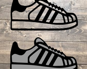 Sneakers SVG, Adidas SVG, Canvas Shoes Clipart Vector Adidas svg, Running  shoe svg