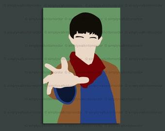 Merlin print – Colin Morgan – Merthur – BBC Merlin fandom – 6 x 4 art print