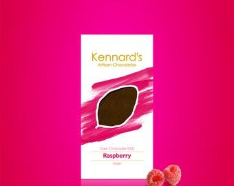 Kennard's Artisan Chocolate, Raspberry Dark Chocolate Bar