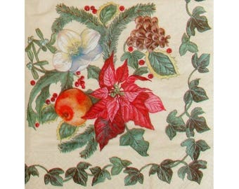 Set of 3 napkins NOE037 winter plants
