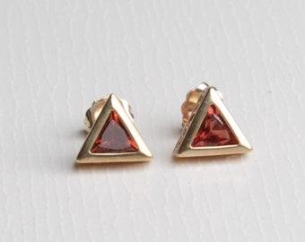 Trillian Orange Tourmaline Earrings (1830)