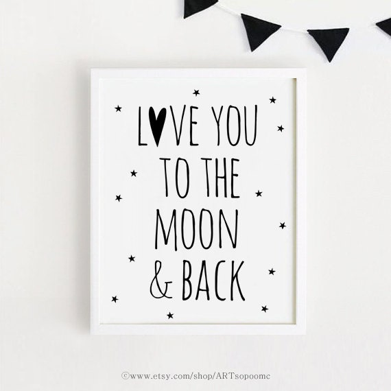 Printable Love You Quotes Poster Sign Black And White Simple