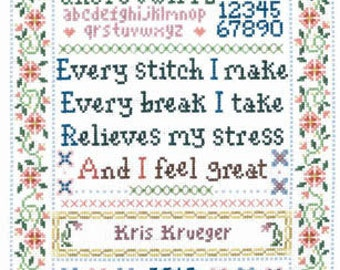 Imaginating Every Stitch Sampler Cross Stitch Pattern