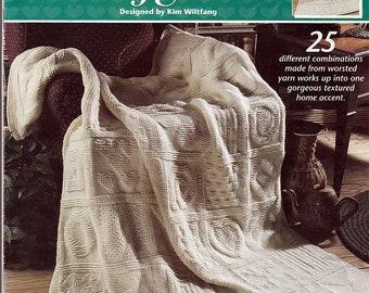 tunisian Sampler Afghan to Crochet Pattern Book Annie's Attic 872751