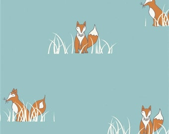Fox Fabric - Birch Organic Cotton Fabric-Sly Fox - Camp Sur Poplin Collection