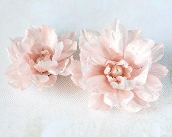 71411 Floral hair accessories, Pink hair flower, Flowers for hair, Hair clip flower, Floral accessories, Hair flower, Fabric hair clips