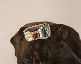 1910 Edwardian Silver Spoon Ring