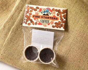 Kaffee zugunsten Partei Geschenk Kaffee Feuer Starter 2 Stück Party Camping Grillen im freien Camp Grill Partei BBQ Feuerstelle Partei Feuer Kaffee Geschenk