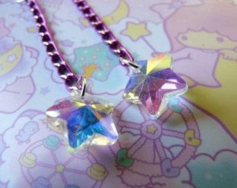 Iridescent Magical Star Earrings