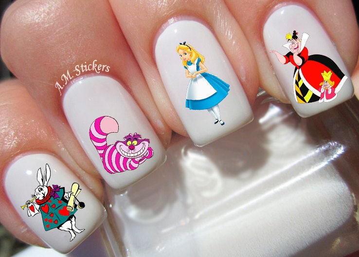 43 Alice in Wonderland Nail Decal from AMnails on Etsy Studio