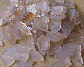 Blush seaglass - bulk sea glass - peach seaglass - seaglass supplies - vase filler