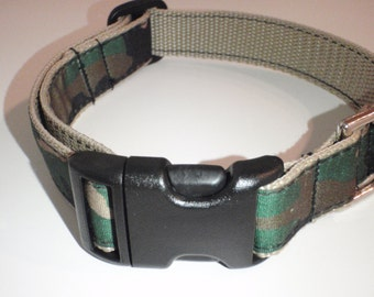 Camouflage on Khaki Polypropylene Dog Collar