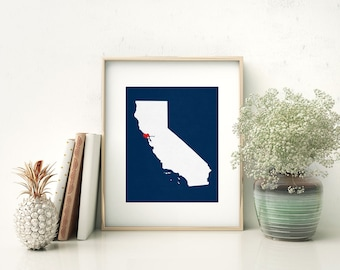 California State Custom Personalized Heart Print I Love Cali USA Hometown Wall Art Listing Stats