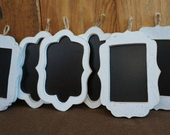 7 Blank Chalkboard  Signs 6.5  X 5  inches  / lot