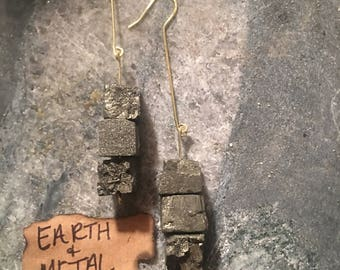 Handmade Pyrite Earrings