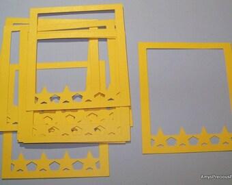 Yellow die cut frames