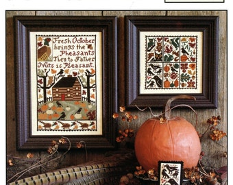October by Prairie Schooler Counted Cross Stitch Pattern/Chart