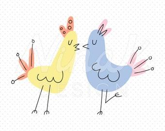 LOVEBIRDS Clipart Illustration - 0003