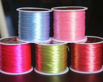 4 pcs,0.8mm  Elastic Thread Wire, Elastic Thread Cords, Bungee Cords