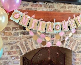 Banner, baby shower banner, Birthday banner