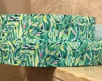 5 YDS Lilly Inspired Palm Frond Ribbon