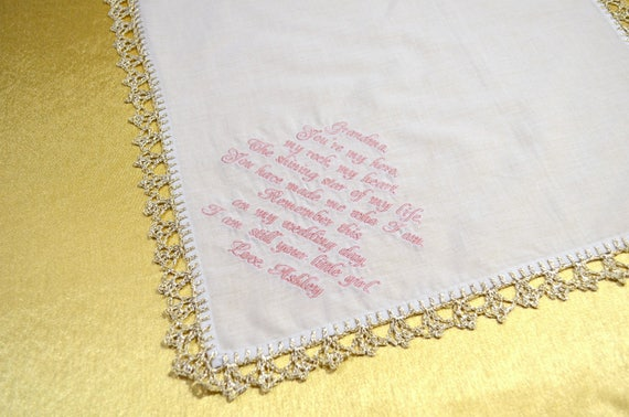 Grandmother Wedding Gift: Grandmother Wedding Gift For Grandparents Wedding Handkerchief