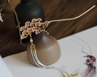 Chinese style hair stick/copper hair stick/flower hair stick/handmade hair pin/wedding hair accessories