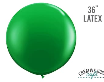 "36"" GREEN giant latex balloon - Perfect for weddings, birthdays, photography props"