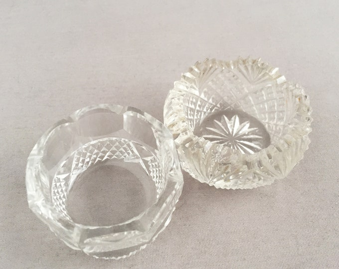 vintage crystal salt and pepper pots