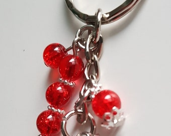 Ladybird keyring / bag charm