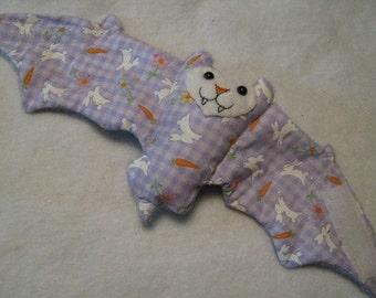 Purple Glitter Easter Bunny Bat Cup Sleeve/Coffee Cozie/Stuffed Animal