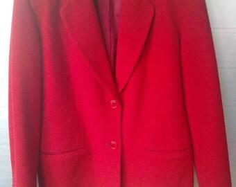 Vintage Bloomingdale's Wool Jacket, Vintage Wool and Cashmere Jacket, 1980's Bloomingdale's Jacket