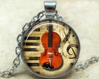 Viola necklace, viola pendant, viola jewelry, music pendant, music necklace, music, band, orchestra, instrument, Pendant#HG161P
