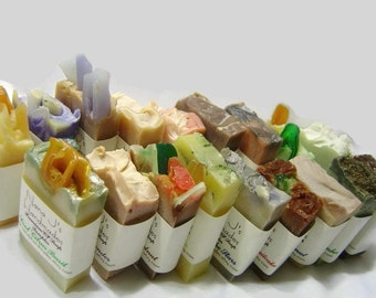 Handmade Cold Process Soap Sampler. U choose 25 guest soap samples. party favors, shower,wedding favors-Free Shipping