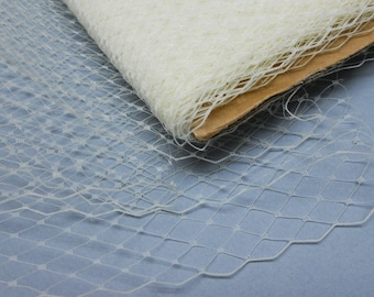 Weekly Promos -- 3 Yards 9 inches wide IVORY Birdcage Russian/French Veiling