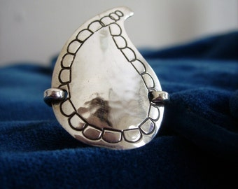 paisley ring in sterling silver