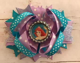 Ariel the little mermaid hair bow