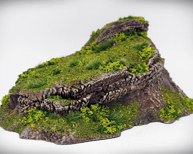 Lookout - Print your own!- DIGITAL FILE – Miniature Wargaming & RPG rock formation terrain