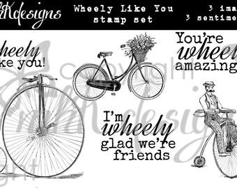 Wheely Like You Digital Stamp Set