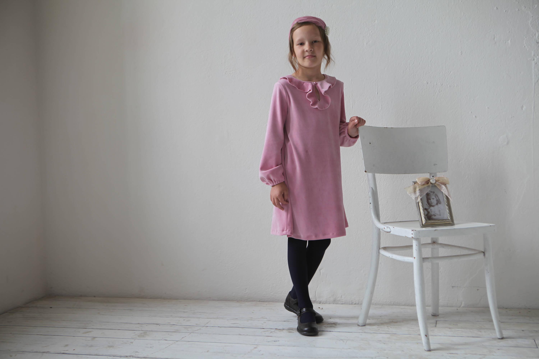 Mädchen Kleid Mädchen samt Kleinkind Mädchenkleid
