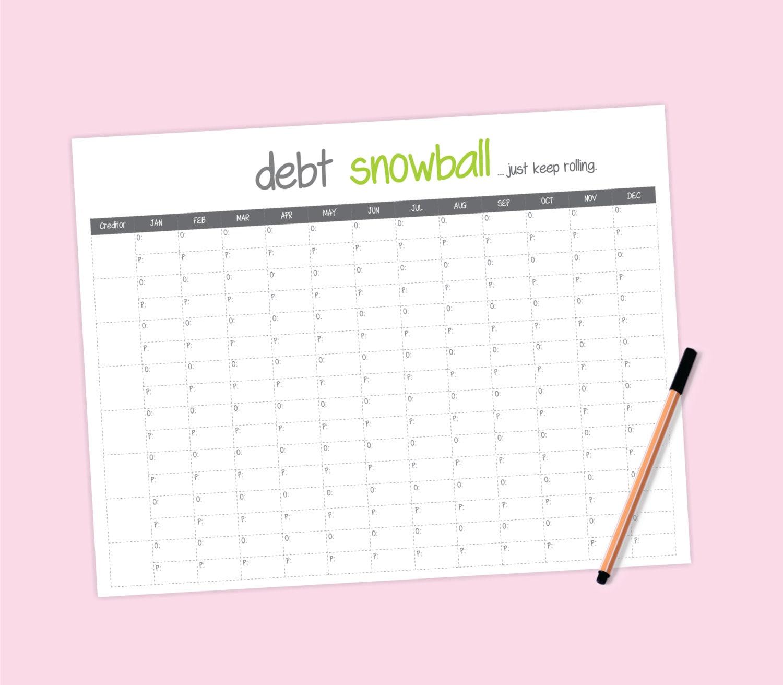 worksheet Debt Snowball Worksheet debt snowball worksheet