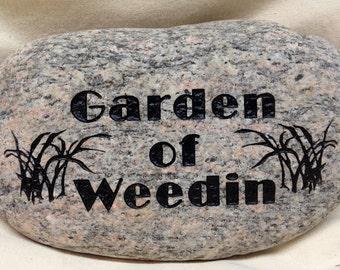 Custom Engraved Garden Stone, Home decor